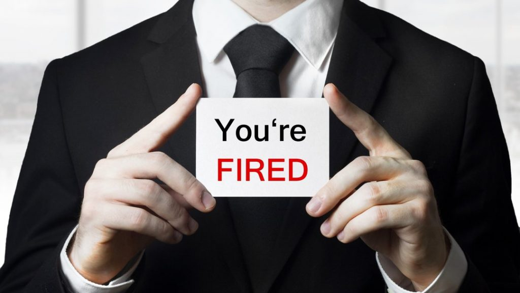 Fired from job