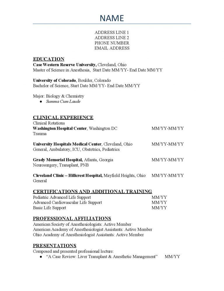 SAA CV Template #2