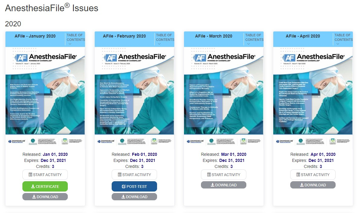 Anesthesia File Activities